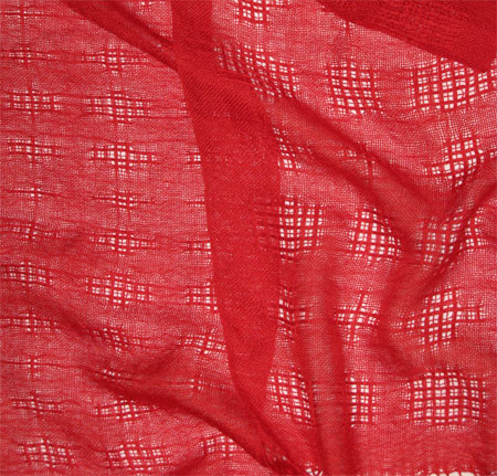 handwoven cashmere silk scarves - red lace