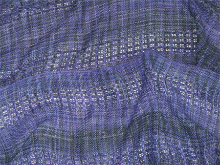 handwoven bamboo scarf, Blue Violets