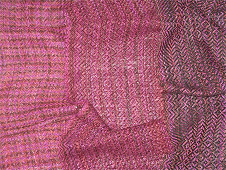 handwoven scarves, bamboo-cotton, Cayenne
