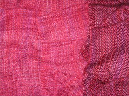 handwoven bamboo scarves, Poinsettia