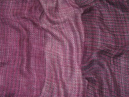 handwoven scarves, bamboo tencel Berries