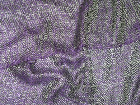 handwoven rayon scarf, amethyst & peridot