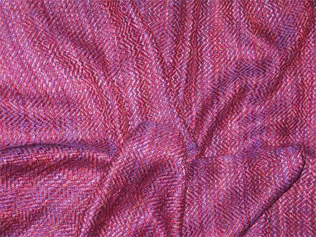 handwoven rayon scarf, purple & berries