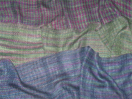 handwoven scarves, North Shore bamboo tencel