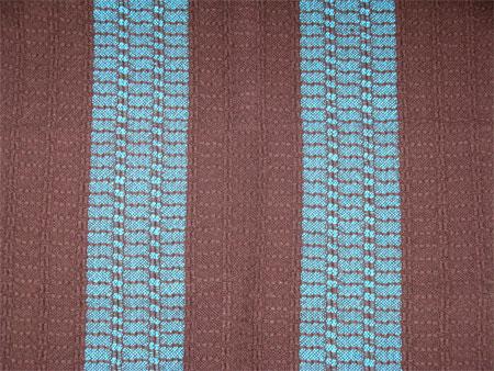 blue & brown towel
