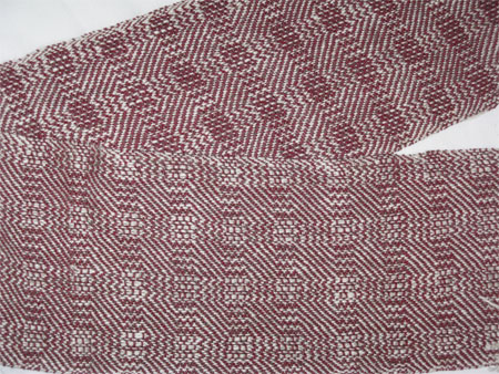 handwoven scarves, blocks & zigs, front & back