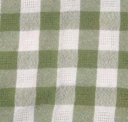 green & white towel