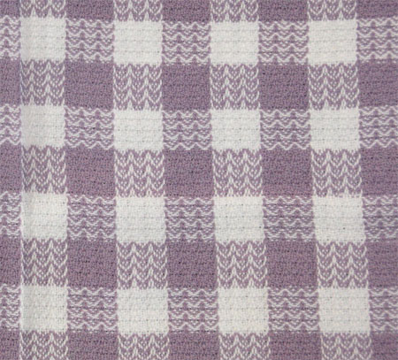 purple & white towel