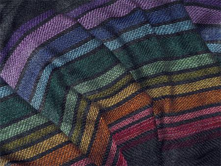 handwoven shawl rayon rainbow