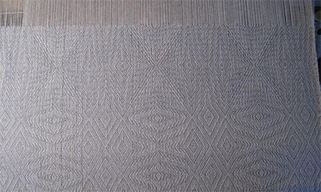 snowflake shawl on loom
