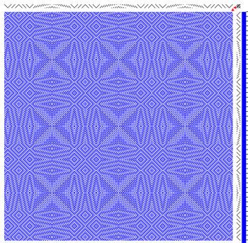 snowflake twill shawl draft