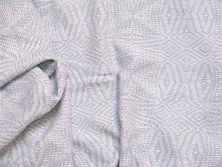 handwoven shawl in white & blue silk-linen
