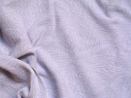 handwoven shawl in white & lilac silk-linen