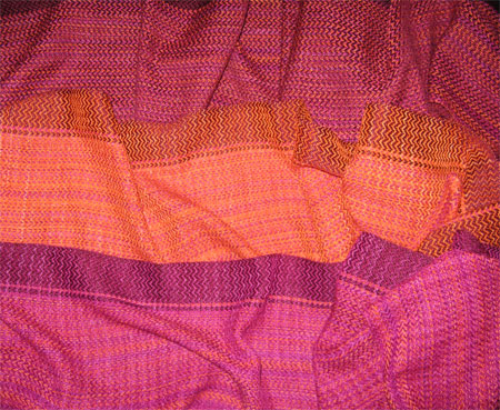 handwoven scarves, carnations