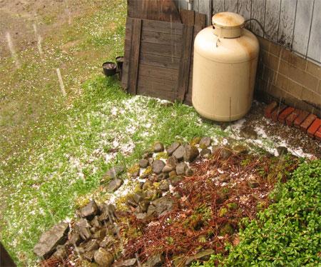 hail piling up