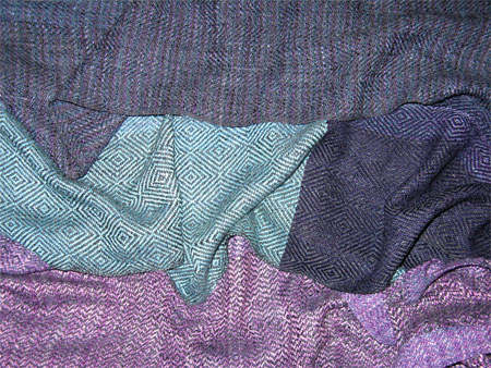 surreal rayon boucle handwoven scarves