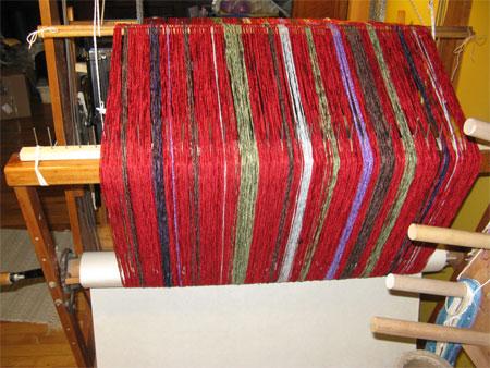 custom shawl on the back beam