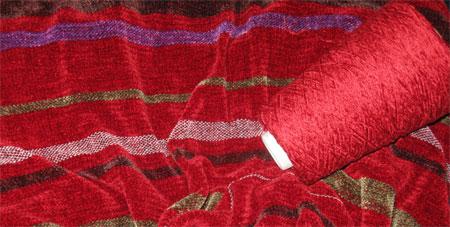 finished shawl & yarn