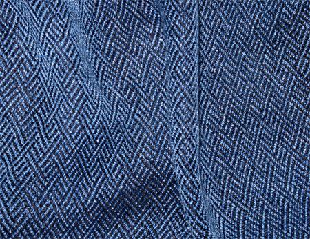 azure braided twill handwoven scarf