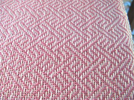 handwoven baby blanket detail