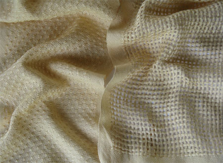 2 lemon chiffon cotton handwoven scarves