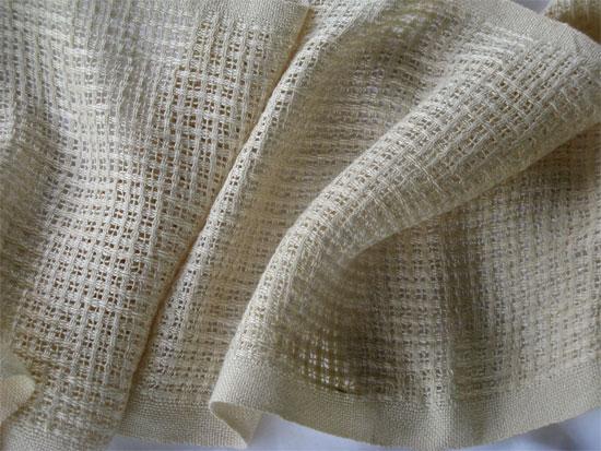 handwoven silk lace checkerboard