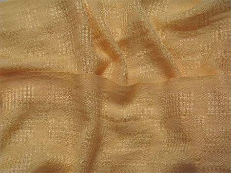 handwoven yellow rayon lace