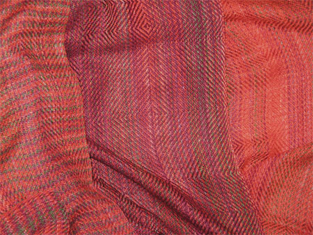 handwoven scarves bamboo cotton copper