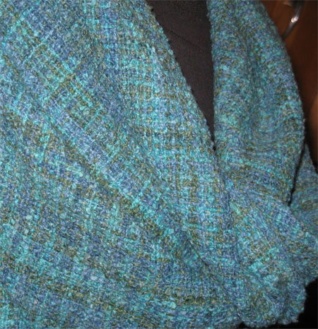 cotton flannel shawl closeup