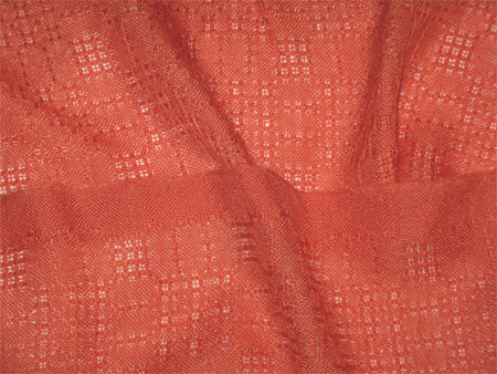 handwoven cashmere-silk scarves, orange lace