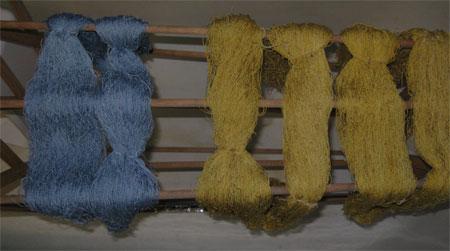 dry dyed silk