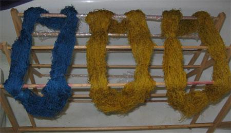 wet dyed silk