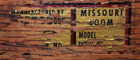 Missouri loom label