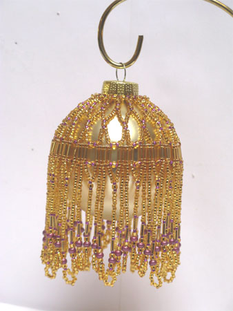 gold & purple Victorian Christmas ornament