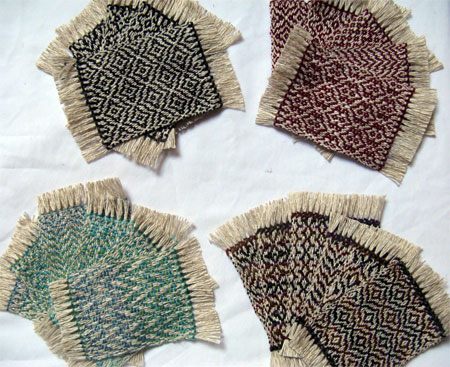 mug rugs woven in October