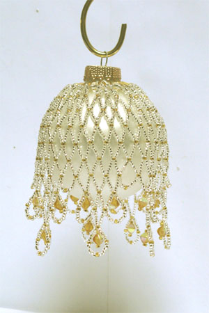 silver & gold Victorian Christmas ornament
