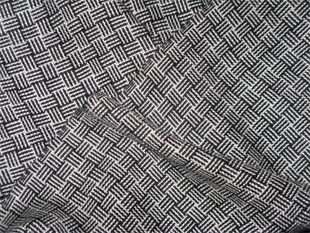 black & white rayon handwoven scarves, log cabin