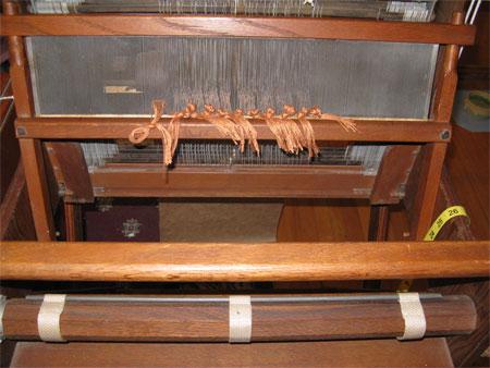 1st warp on Missouri loom