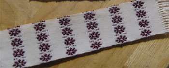 handwoven flowers bookmarks