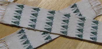 handwoven trees bookmarks