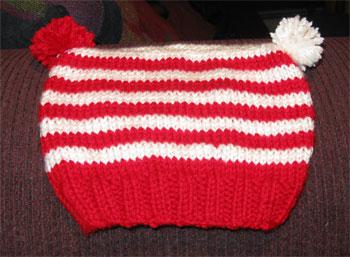 flat striped hat