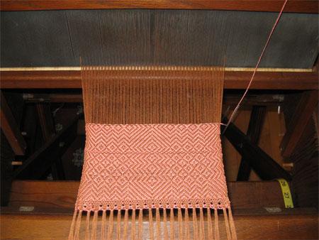 weaving on Missouri loom