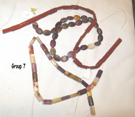 mookite & red jasper beads
