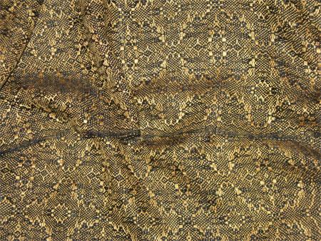 handwoven scarf, gold snakeskin