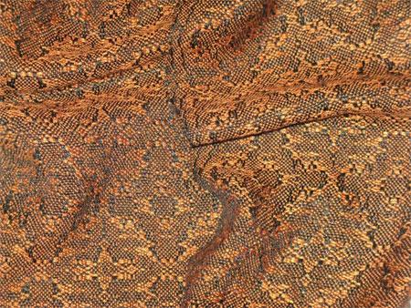 handwoven orange snakeskin scarf