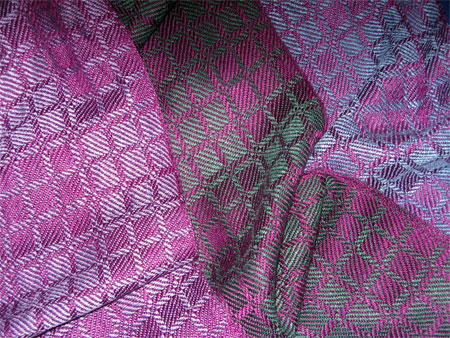 3 drall handwoven scarves