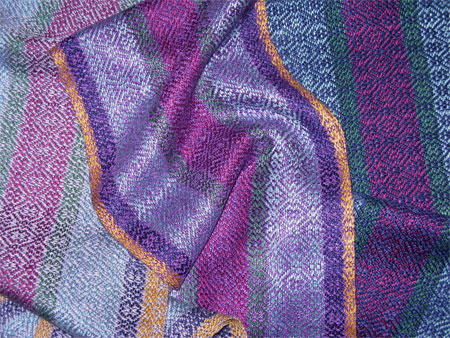 3 gems Ms & Ws handwoven rayon scarves