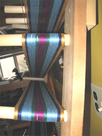 gems stripes on warping board