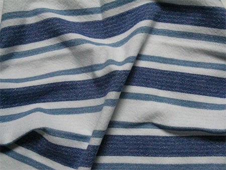 handwoven blue striped towel