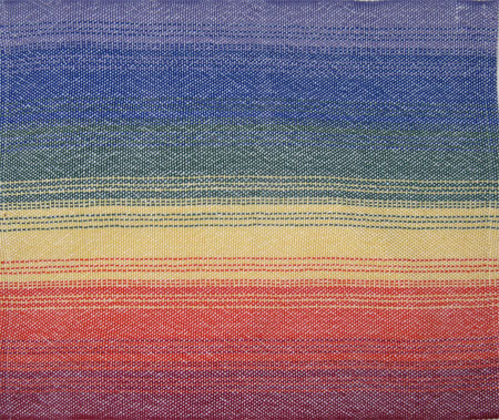 rainbow white handwoven placemats